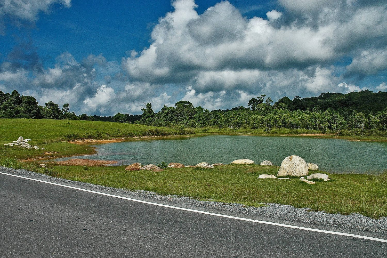 Landscape lake clouds Khao Yai Thailand