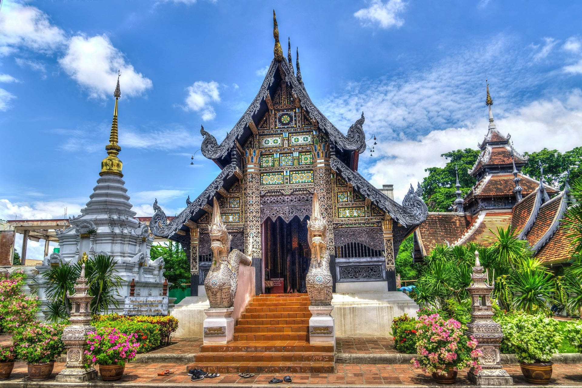 Temple Architecture building Chiang Mai