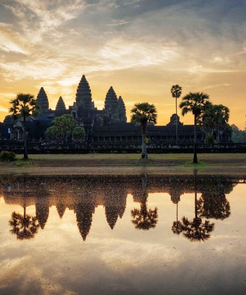 Angor Wat Sunset