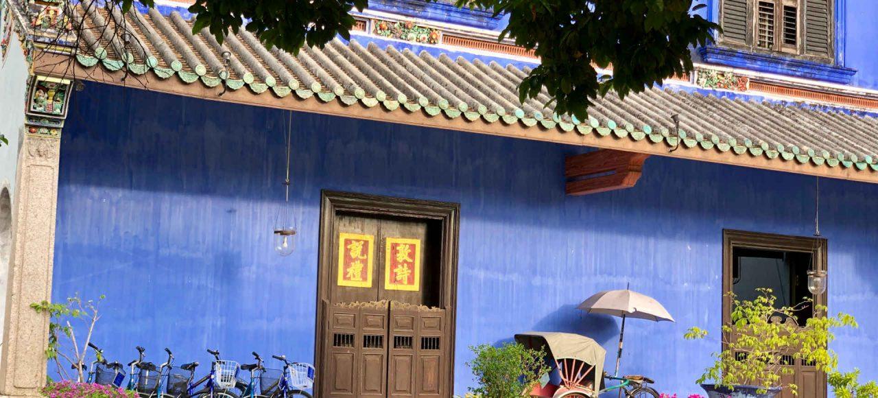 blue walls Cheong Fah Tze mansion, Penang