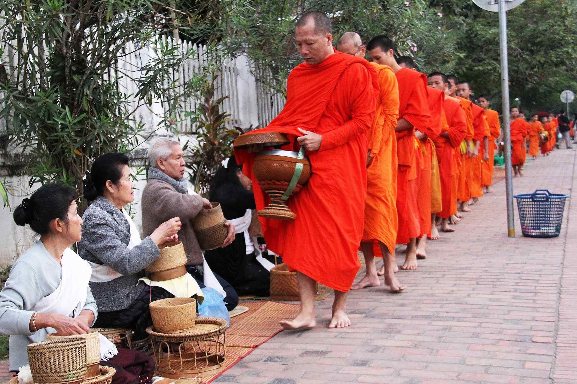 Alms Giving Luang Prabang Laos