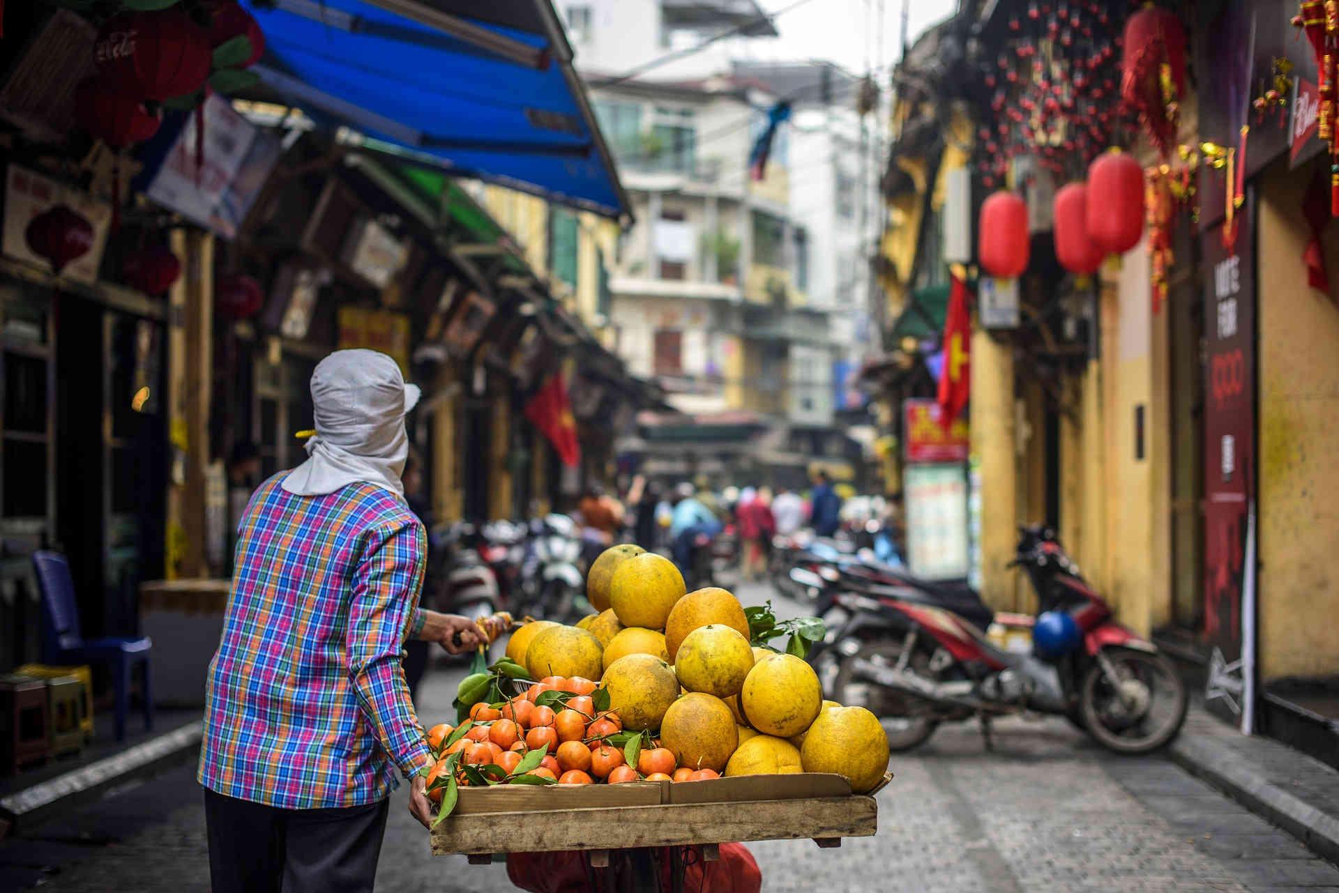 Fruit street Hanoi Vietnam
