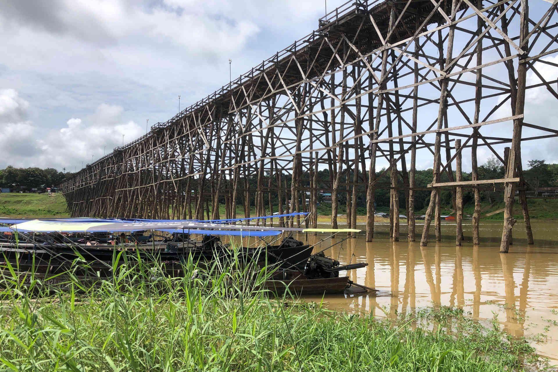 the Mon wooden bridge